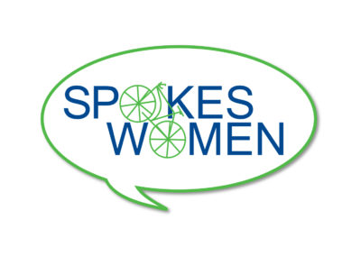Logo for Spokeswomen, a women's cycling group..