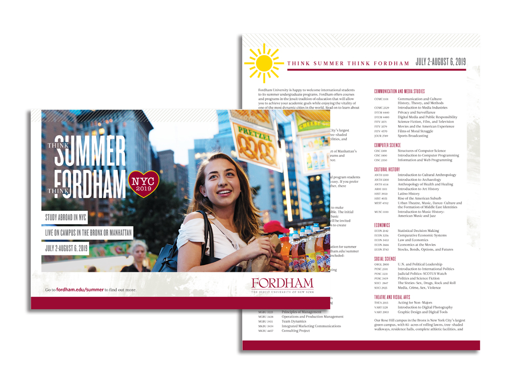 Picture of Brochure for Summer Session at Fordham