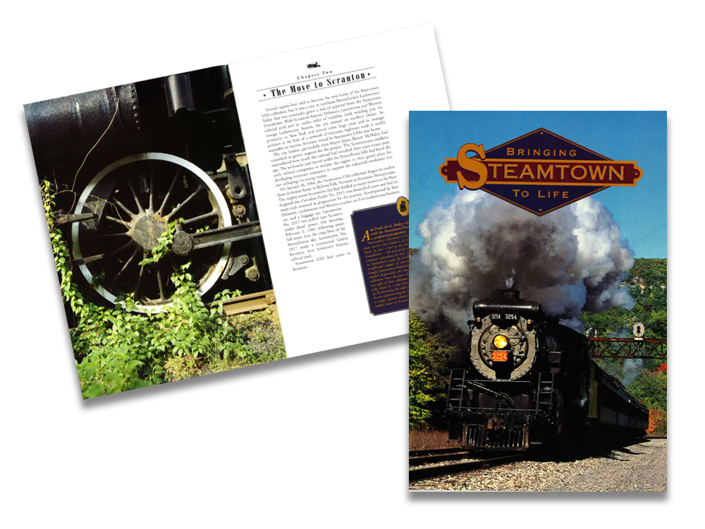 Book about bringing Steeamtown National Site eto Scranton, Pennsylvania