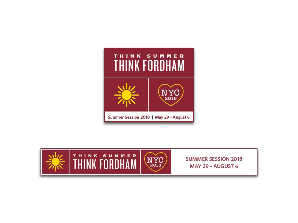 Weeb Banner Ads for Fordham Summer Sesssion