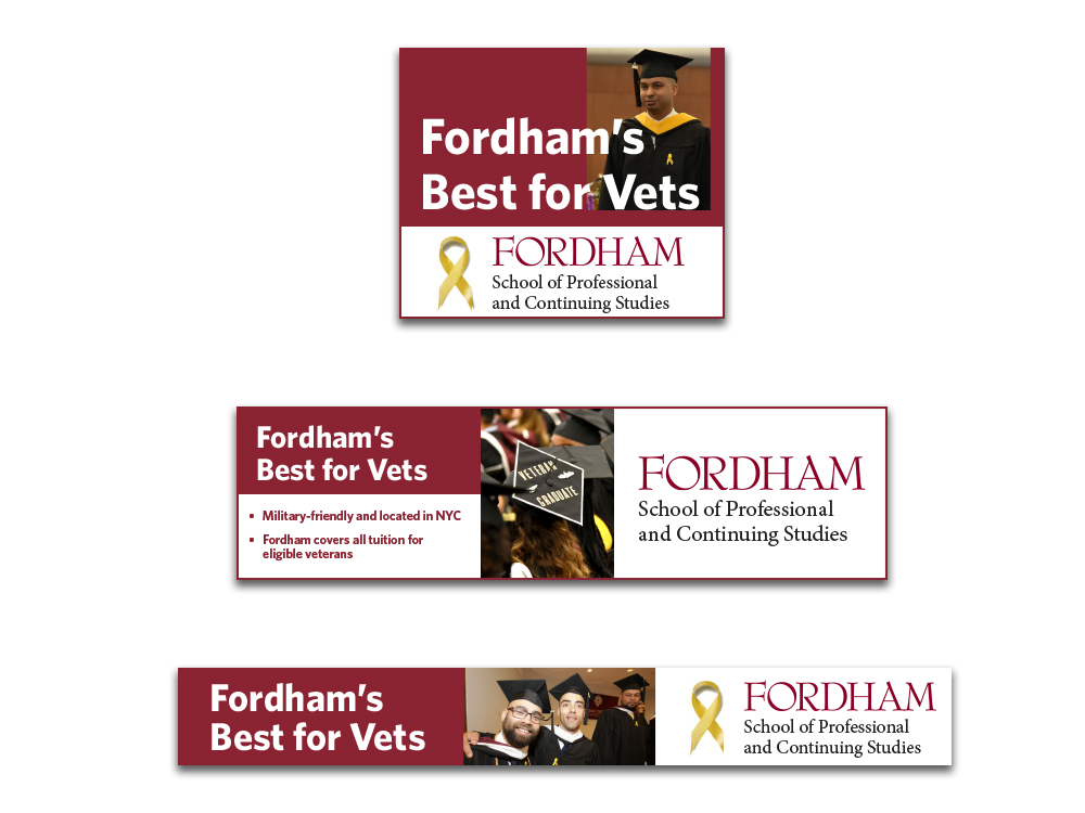 Web Banner ads for Veteran's