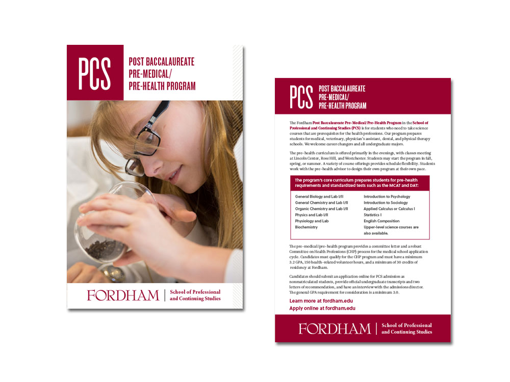 Post Bacculaureate Info Card